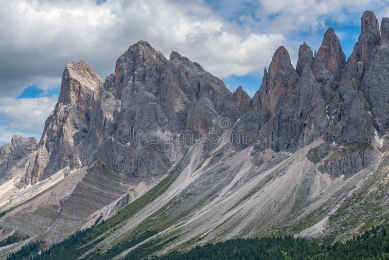 Mountain peaks in the Dolomites stock photo