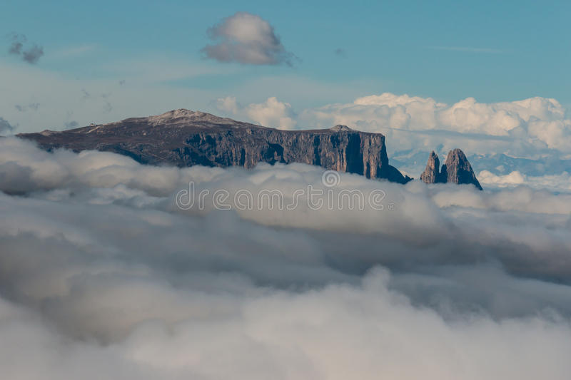 Mountain peaks in Dolomites stock image