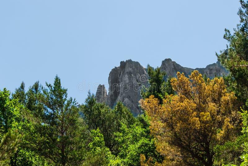 Mountain peaks royalty free stock image