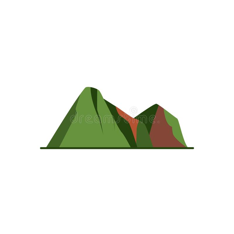 Mountain peaks icon in flat style royalty free illustration