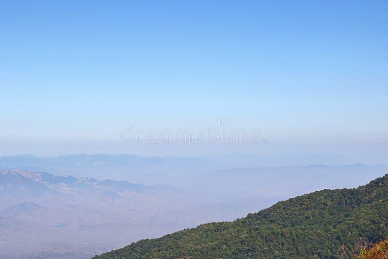 Mountain peaks landscape of Kew Mae Pan nature trail at Doi Inthanon natuonal park , Chaingmai , Thailand.  stock images