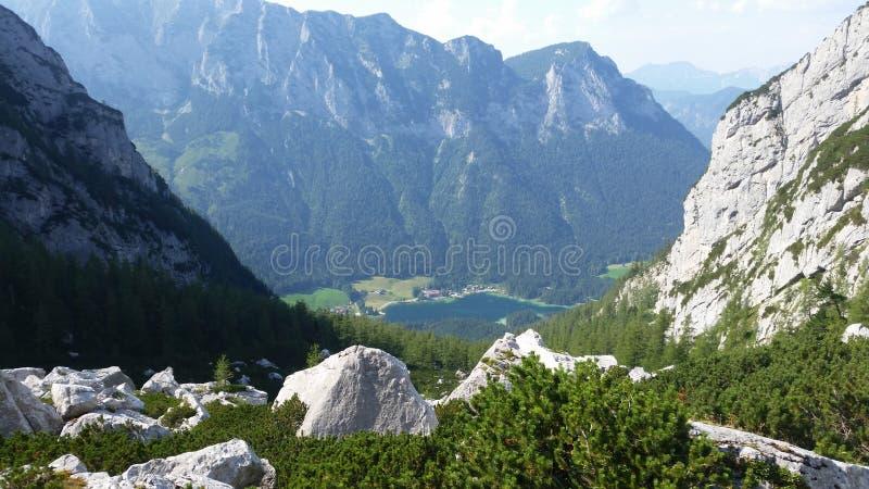 The mountain peaks near the Blaueis glacier, south Germany stock photo