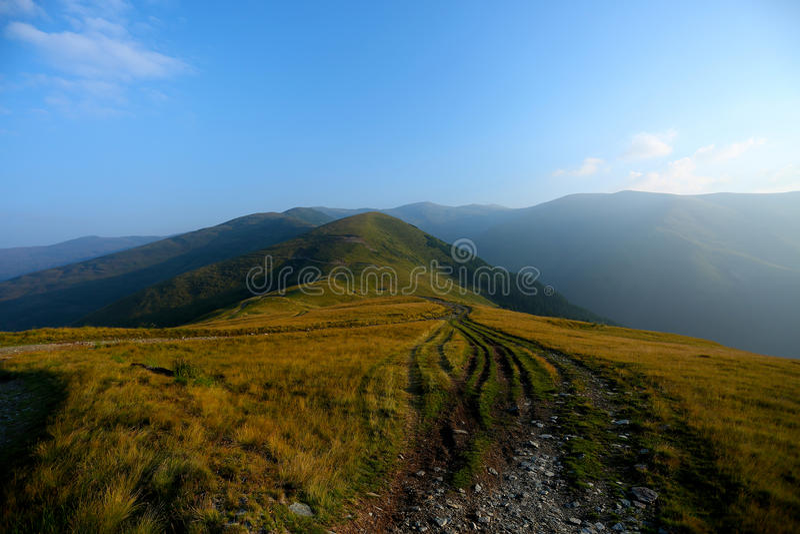 Mountain peaks, skyline landscape stock images