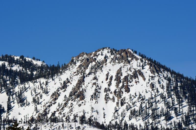 The mountain peaks surrounding Lake Tahoe, California. stock photography