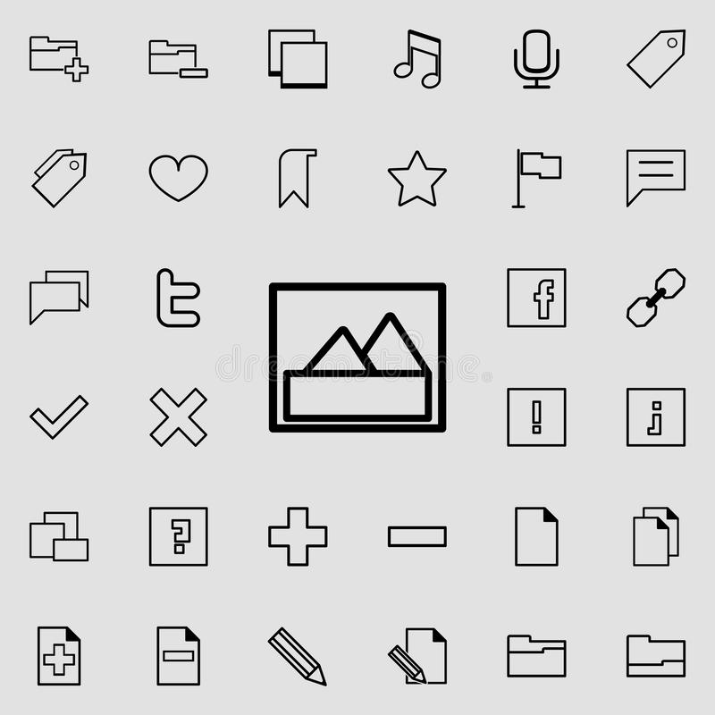mountain picture icon. Detailed set of minimalistic icons. Premium graphic design. One of the collection icons for websites, web d royalty free illustration