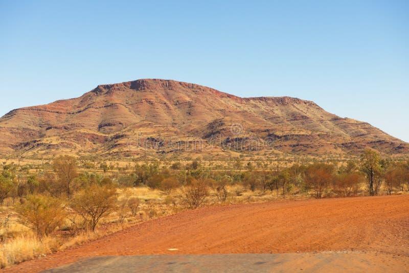Mountain Pilbara buiten Australië landschap royalty-vrije stock fotografie