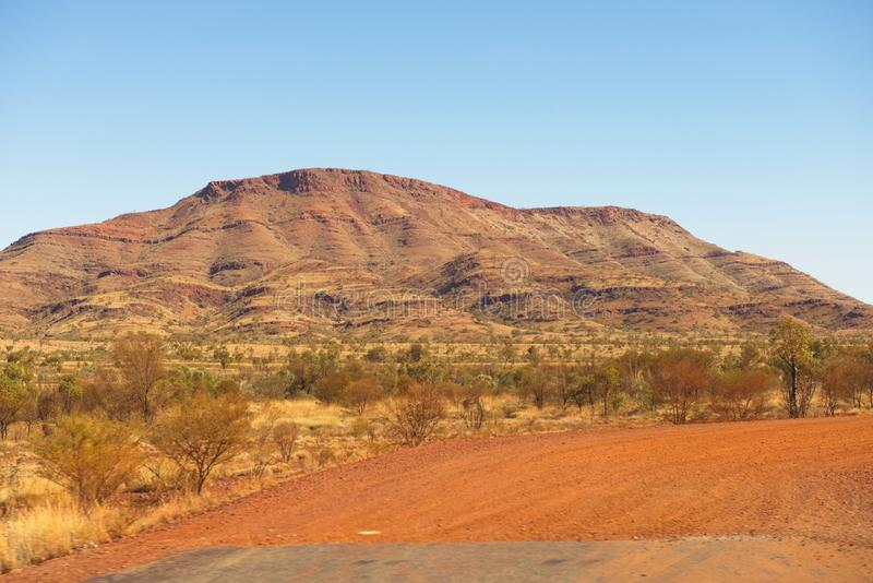 Mountain Pilbara outback Australia landscape royalty free stock photography