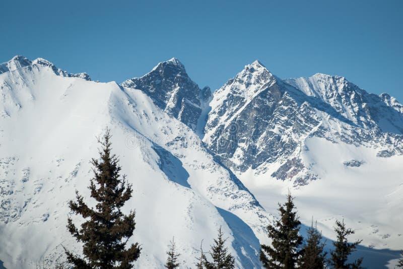 Mountain Pinnacles in Winter royalty free stock image