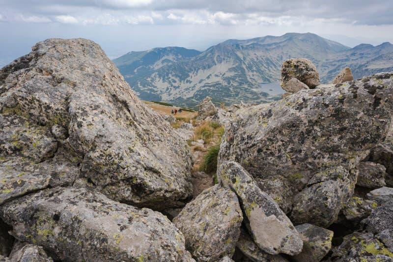 Mountain Pirin en piek Polezan royalty-vrije stock afbeelding