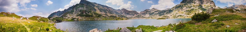 Mountain Pirin Lake Panorama stock photos
