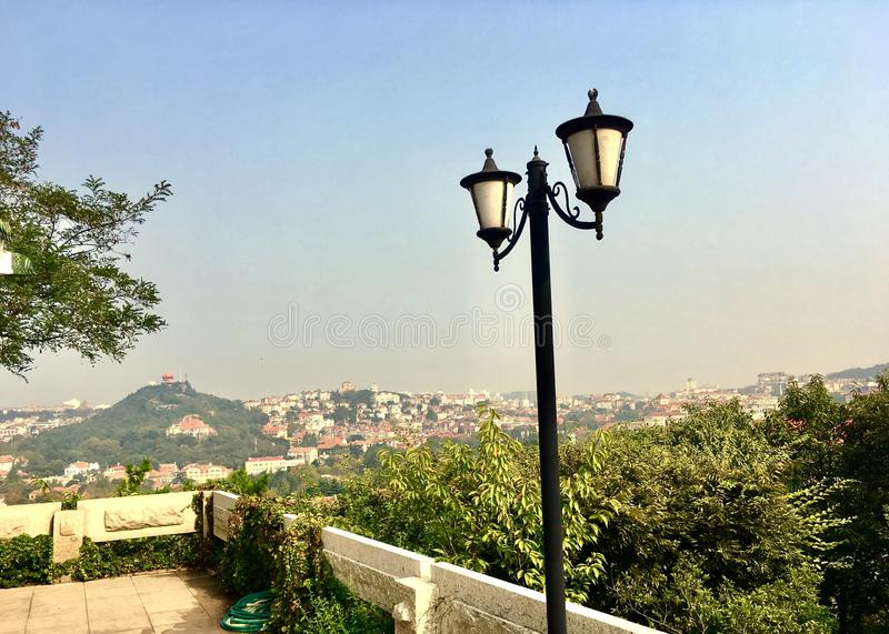 A mountain in Qingdao of China. You will enjoy the beautiful scenery, when you stand there stock photos