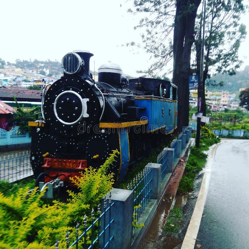 Mountain rail Engine stock photo