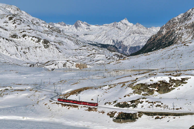 Mountain Railway stock image