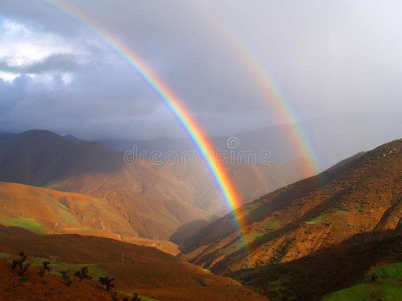 Download Double rainbow stock photo. Image of rain, multi, nature - 37451270