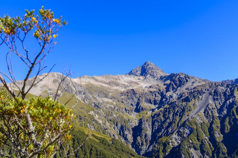 Mountain range around Arthurs Pass royalty free stock photography