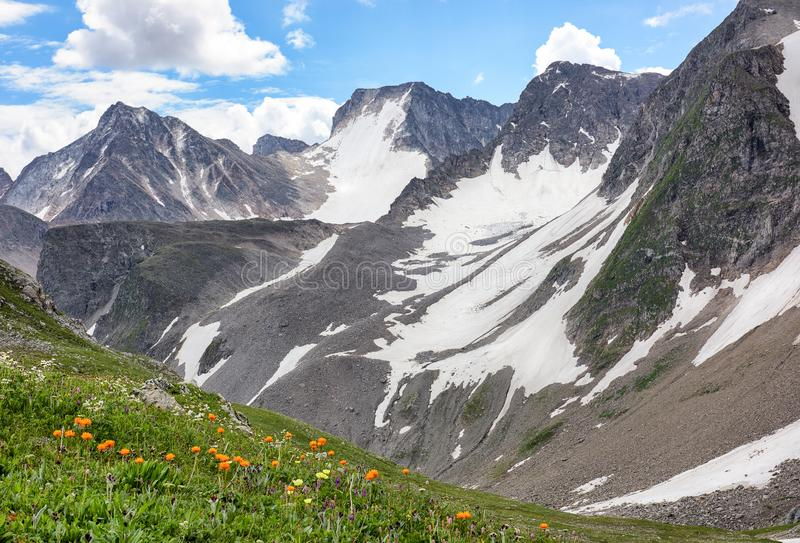 Mountain range in Eastern Siberia stock images