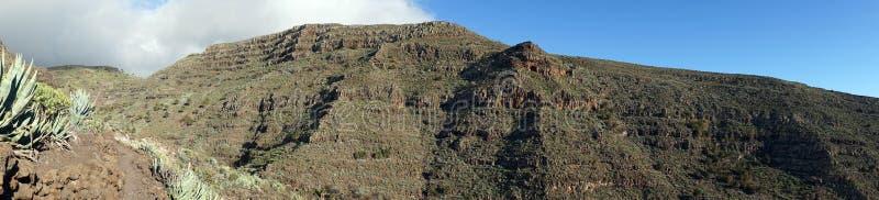 Mountain range. On the La Gomera island, Spain stock images