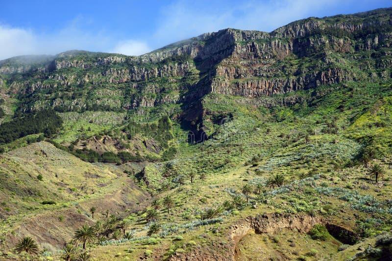 Mountain range. On the La Gomera island, Spain royalty free stock photo