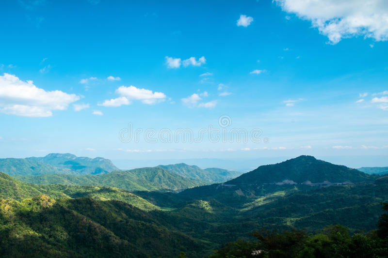 Mountain range. In Petchaboon province Thailand royalty free stock photography