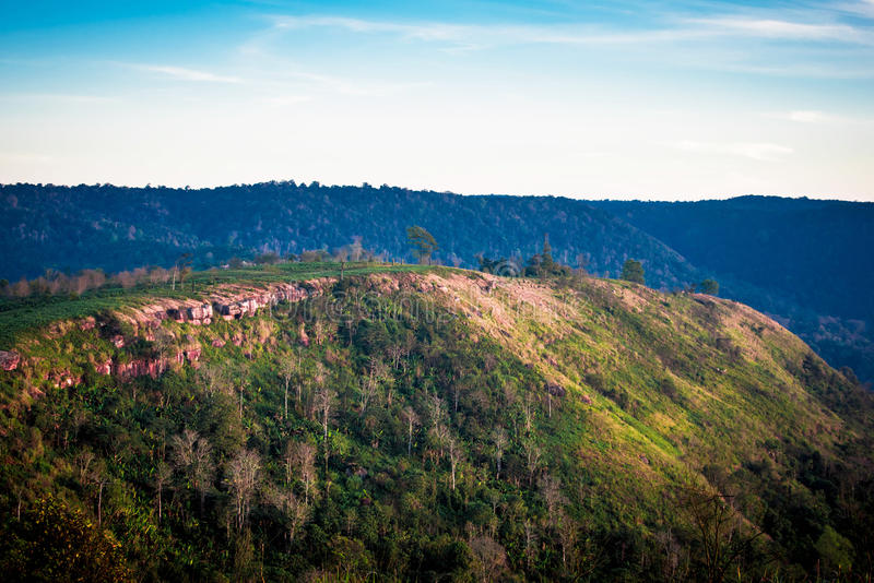 Mountain range. In Petchaboon province Thailand stock photos