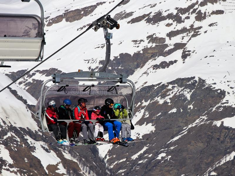 Mountain Range, Snow, Geological Phenomenon, Winter stock photography