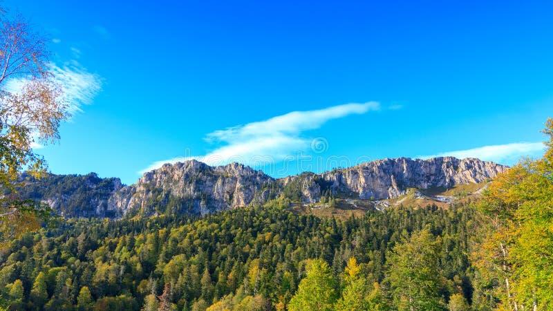 Mountain range of the Stone sea. Mountain Nagoy - Kosh altitude 2090 meters above sea level. The Adygea Republic, the Western Caucasus royalty free stock photography
