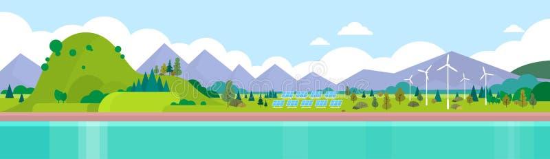 Mountain Range Summer Landscape stock illustration