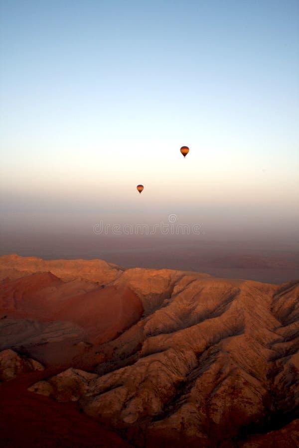 Mountain range in the UAE stock image