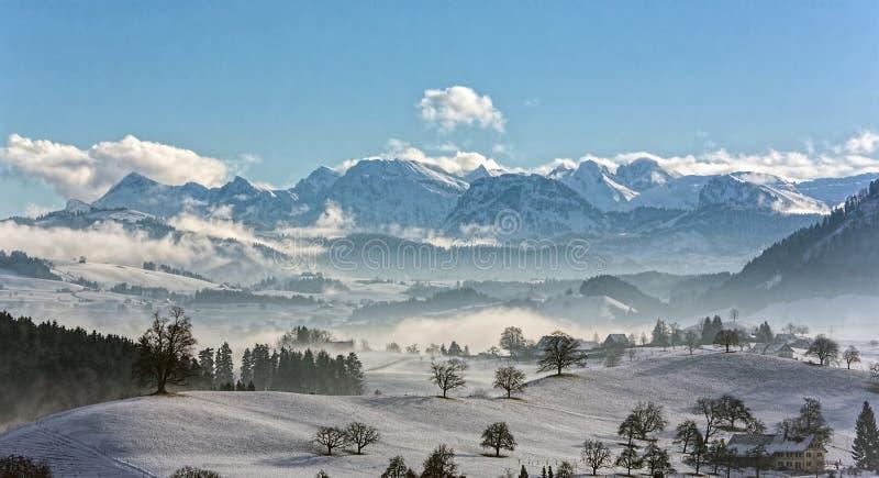 Mountain Range, Winter, Mountainous Landforms, Sky stock images
