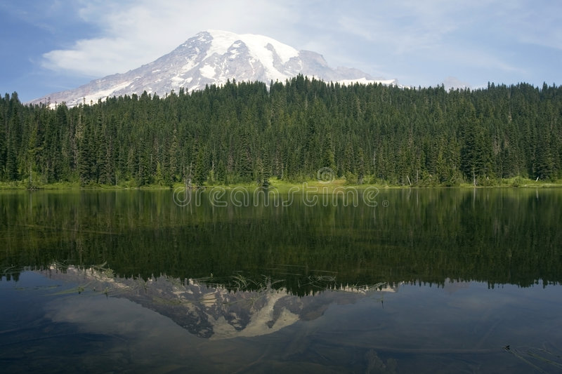 Download Mountain reflection stock image. Image of mountains, serene - 2320063