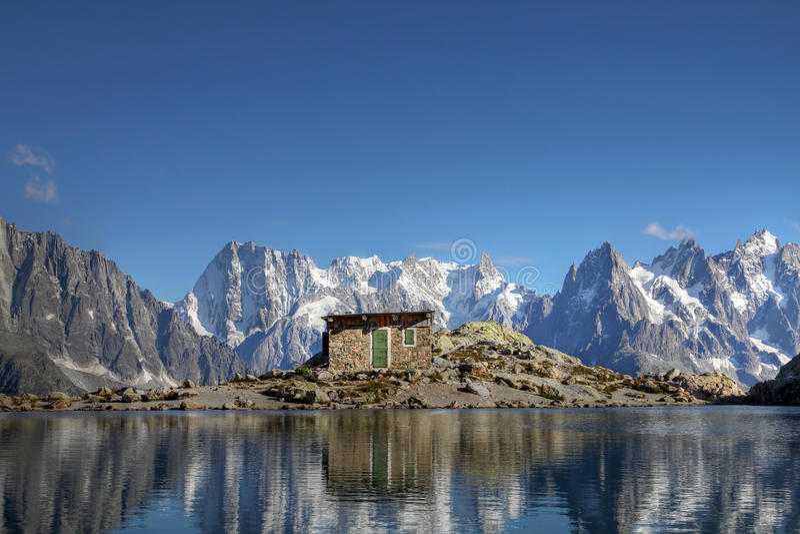 Download Mountain Reflection Above Chamonix, France Stock Photo - Image of blue, alpine: 20722224