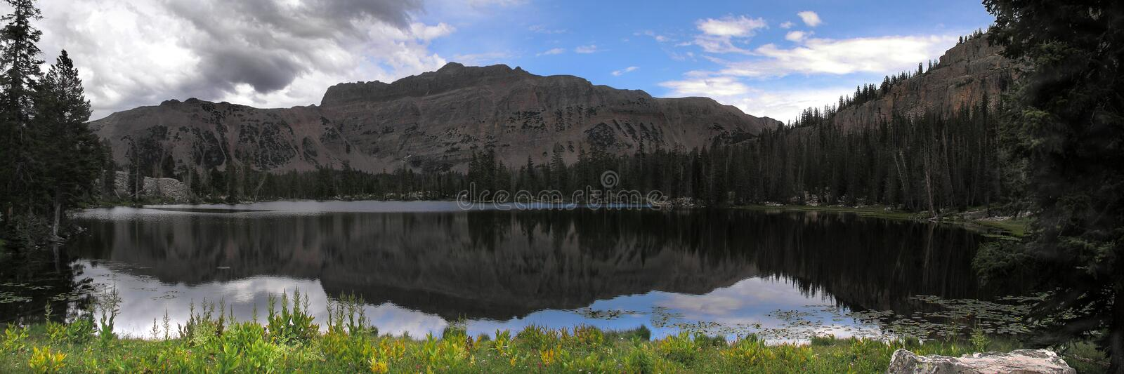 mountain reflection panoramic royalty free stock images