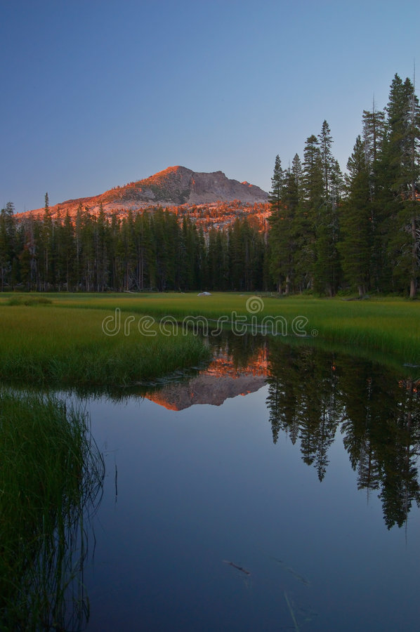 Download Mountain reflections stock photo. Image of mountains, wilderness - 1235906
