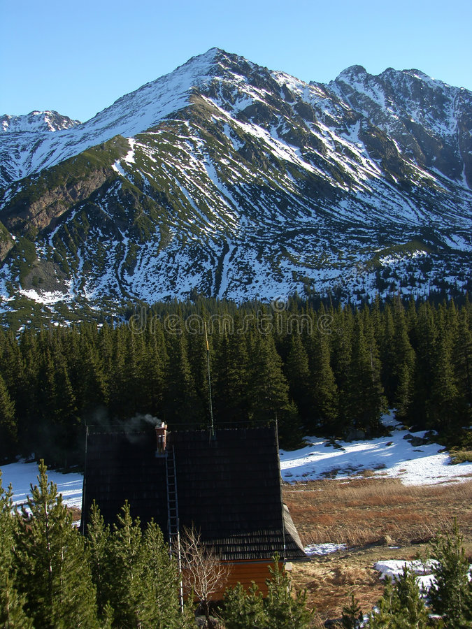 Mountain refuge stock photography