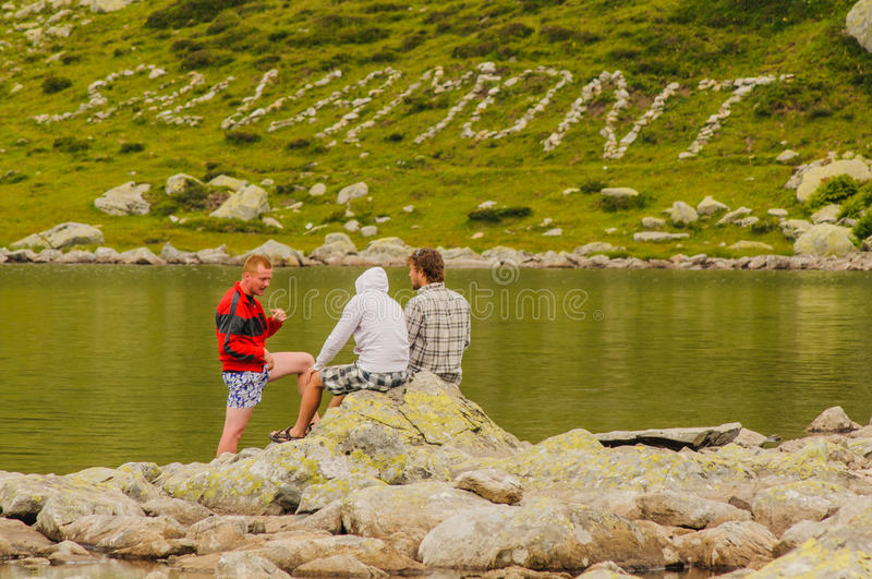 Mountain rescue royalty free stock images