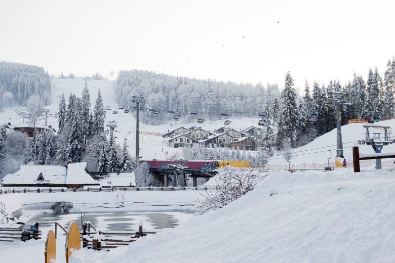 Mountain resort Bukovel, Carpathians royalty free stock photo