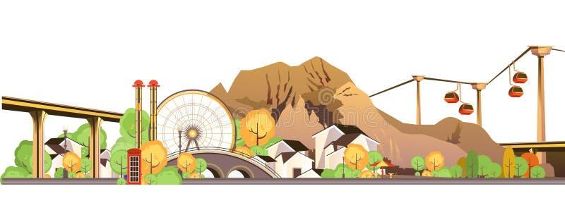 Mountain resort entertainment royalty free illustration
