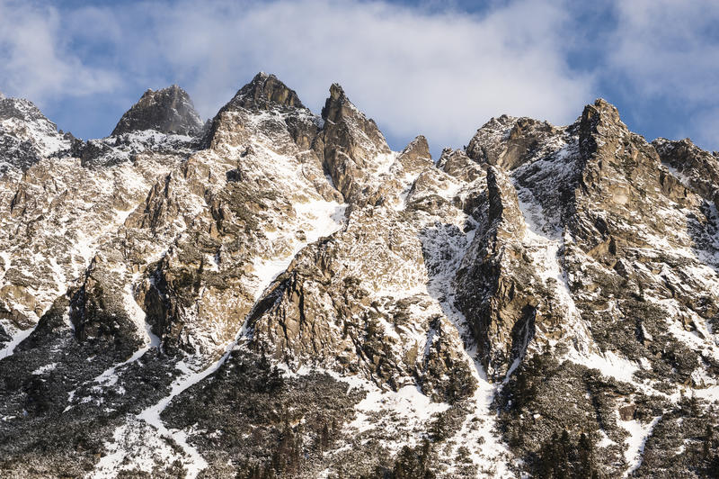 Mountain ridge royalty free stock image