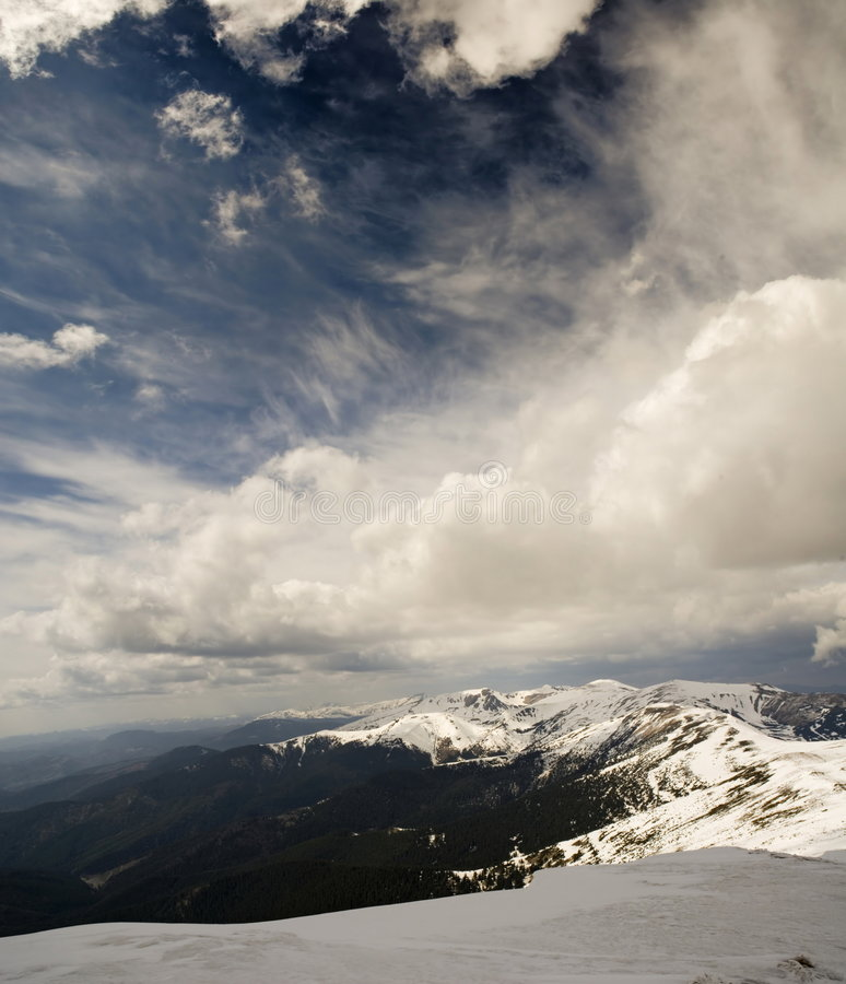 Download Mountain ridge stock image. Image of carpathians, snowboard - 3448465