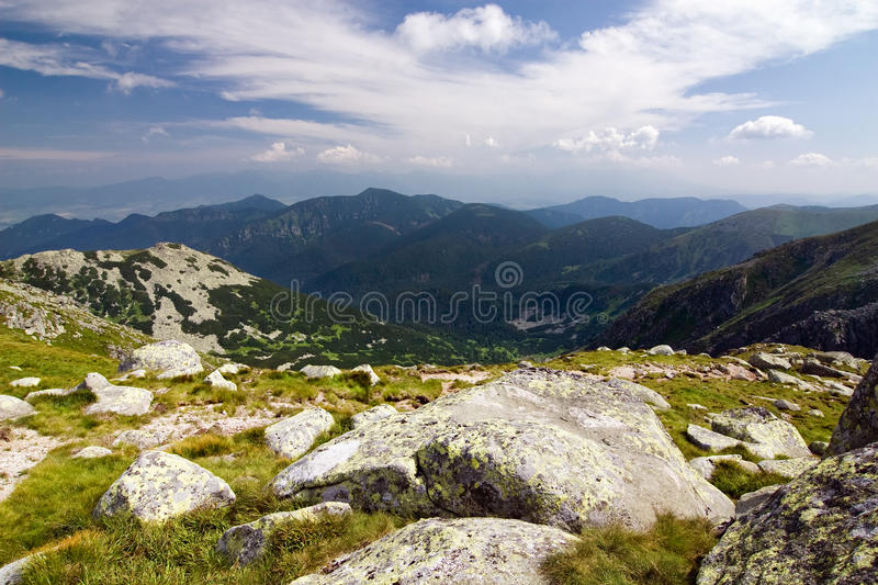 Download Mountain Ridge And Blue Sky With Clouds Stock Image - Image: 20513997
