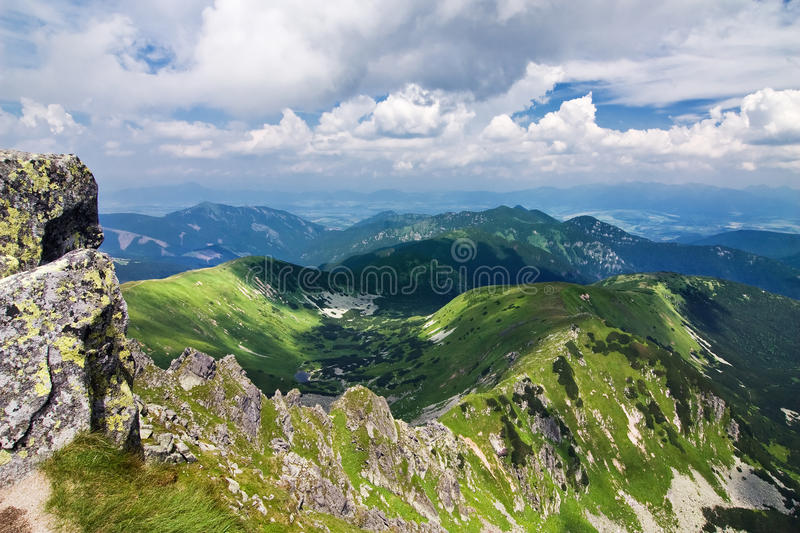 Download Mountain Ridge And Blue Sky With Clouds Stock Photo - Image: 20514094