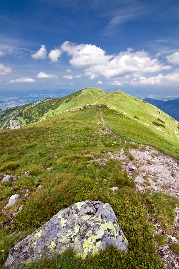 Download Mountain Ridge And Blue Sky With Clouds Royalty Free Stock Photo - Image: 20514495