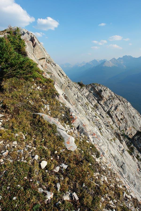 Mountain ridge and cliff stock photo