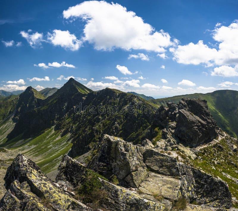Mountain ridge horizon stock photography