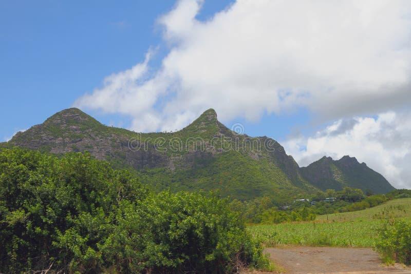 Mountain ridge Moka. Port Louis, Mauritius. 2016-01-08 royalty free stock photos