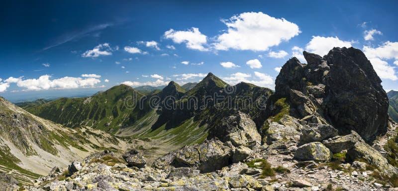 Mountain ridge panorama royalty free stock photo