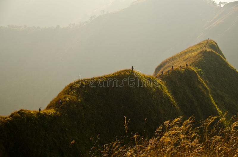 on mountain ridge royalty free stock photos