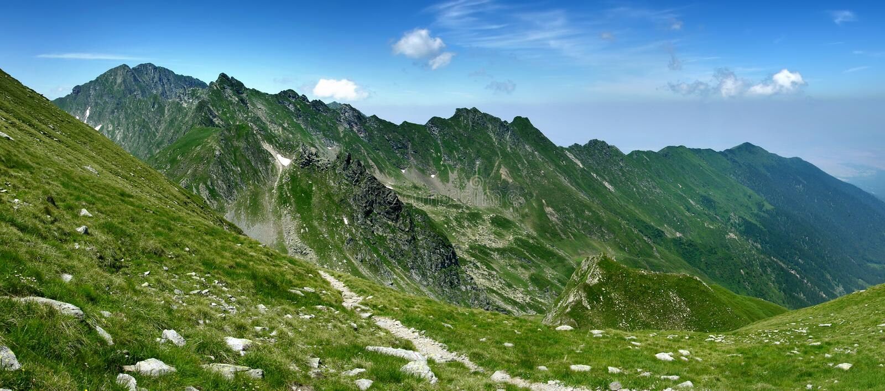 Mountain ridge in Romania royalty free stock image