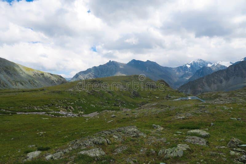 Mountain ridge scenic view. Valley of 7 lakes. Altai Mountains, Russia. Mountain ridge scenic view. Valley of 7 lakes. Altai Mountains stock photography
