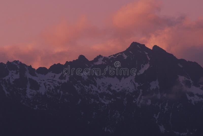 Download Mountain ridge sunset stock photo. Image of horizontal - 124742